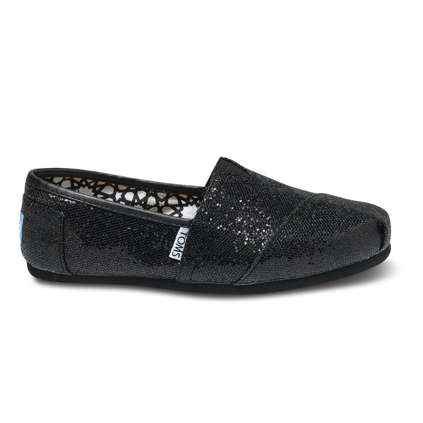 Toms Black Women Glitters