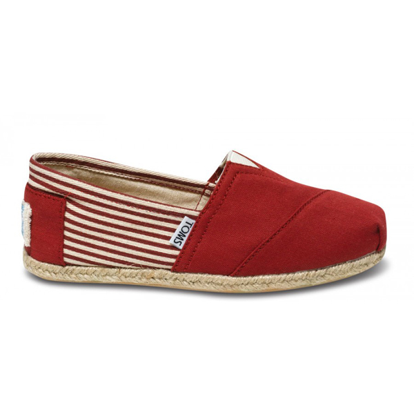 Toms University Red Rope Sole Women Classics