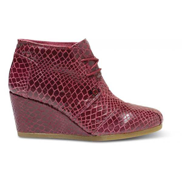 TOMS+ Oxblood Serpentine Women Desert Wedges