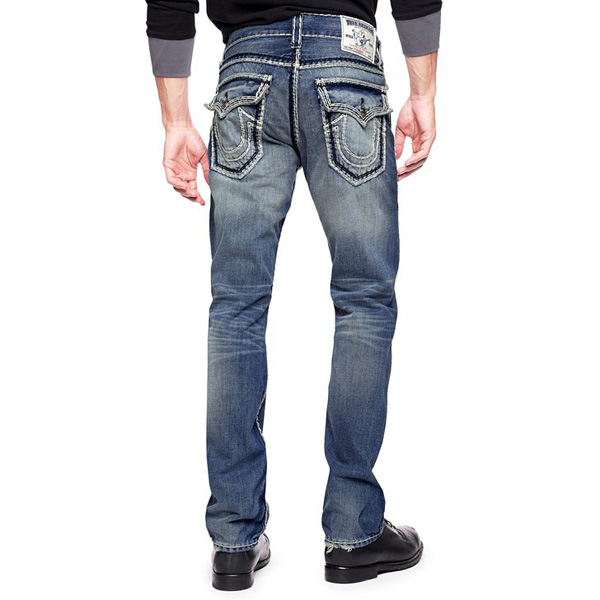 TRUE RELIGION HAND PICKED STRAIGHT BACK FLAP POCKET SUPER QT MENS JEAN