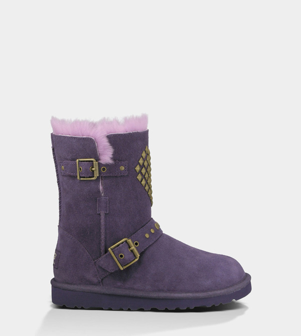 UGG KIDS ADRIANNA PURPLE VELVET