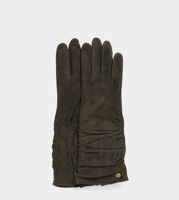 UGG WOMENS BIANKA GLOVE BROWN
