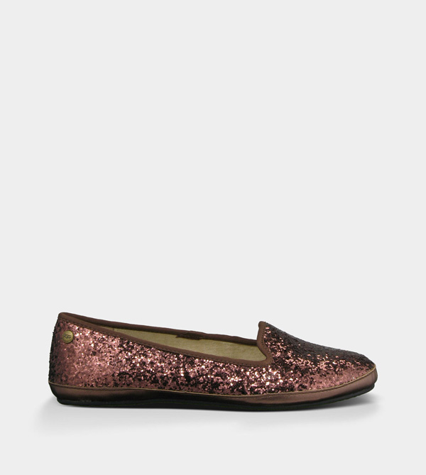 UGG WOMENS ALLOWAY GLITTER CHOCOLATE