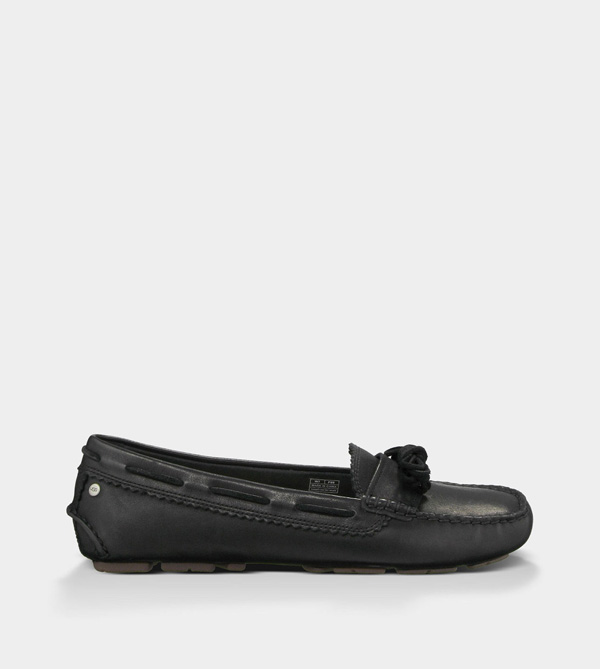 UGG WOMENS MEENA - LEATHER BLACK