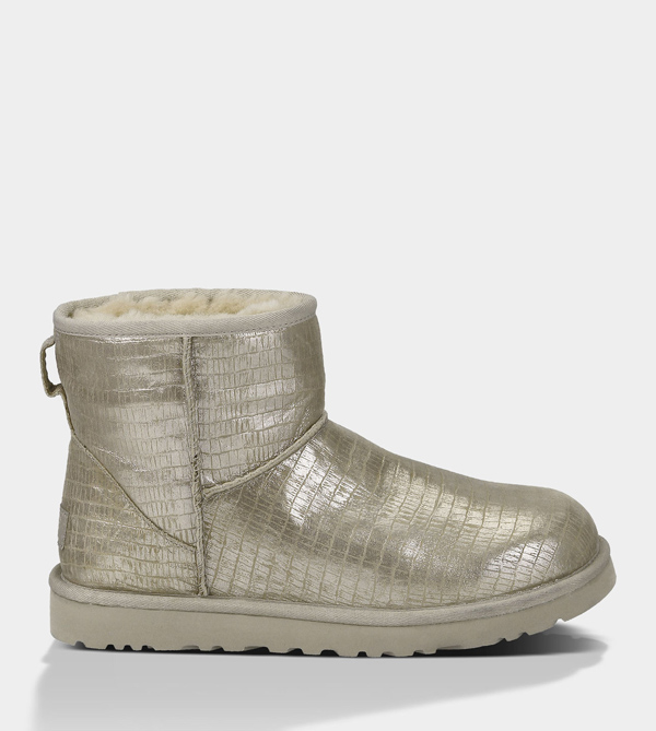 UGG WOMENS CLASSIC MINI LIZARD STERLING