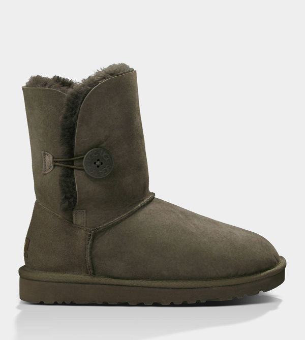 UGG WOMENS BAILEY BUTTON CHOCOLATE