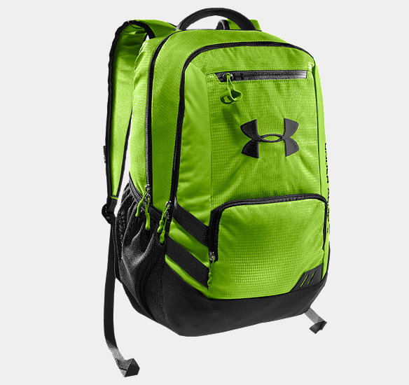 UNDER ARMOUR HUSTLE STORM BACKPACK HYPER GREEN