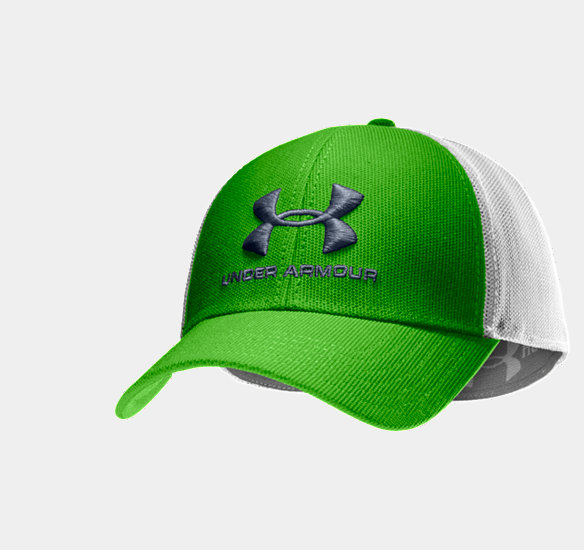 UNDER ARMOUR MEN STEALTH STRETCH FIT CAP PARROT GREEN