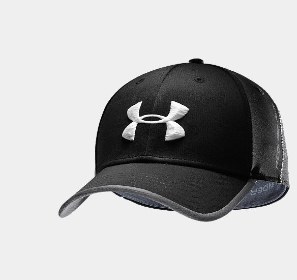 UNDER ARMOUR MEN COLDBLACK FOCUS STRETCH FIT GOLF CAP BLACK