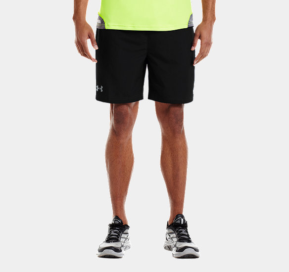 UNDER ARMOUR MEN SIXTH MAN 2-IN-1 SHORTS BLACK