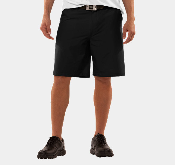 UNDER ARMOUR MEN BENT GRASS SHORTS BLACK