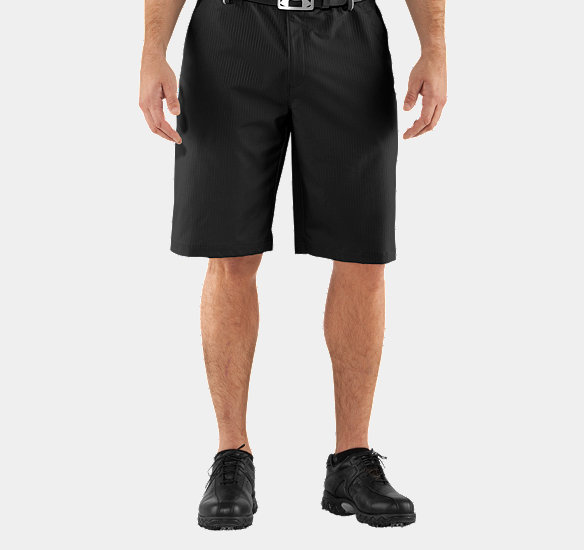 UNDER ARMOUR MEN COLDBLACK EMBOSSED SHORTS BLACK