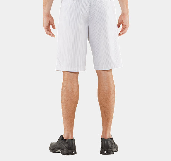 UNDER ARMOUR MEN FORGED STRIPE SHORTS 3.0 WHITE