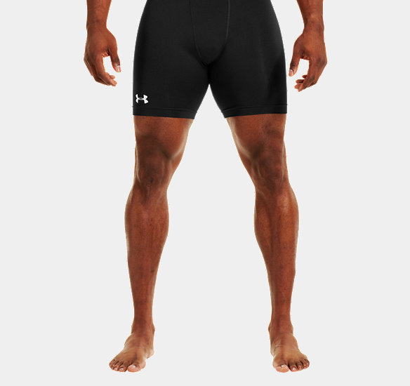 UNDER ARMOUR MEN HEATGEAR SONIC COMPRESSION SHORTS BLACK