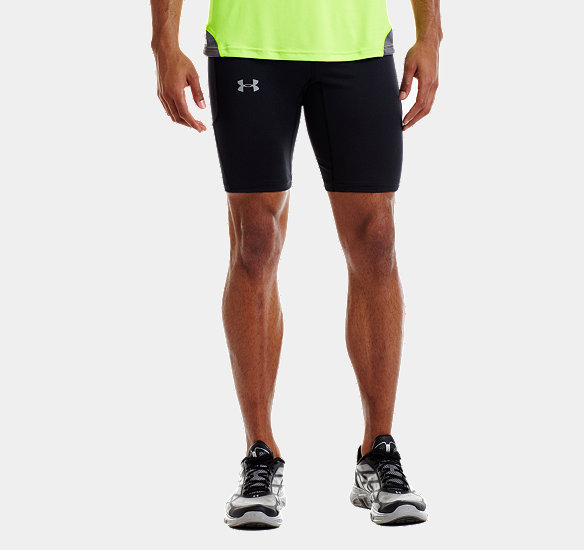 UNDER ARMOUR MEN RUN COMPRESSION SHORTS BLACK