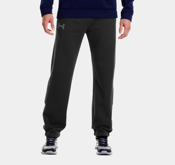 UNDER ARMOUR MEN CHARGED COTTON STORM CUFFED PANTS BLACK
