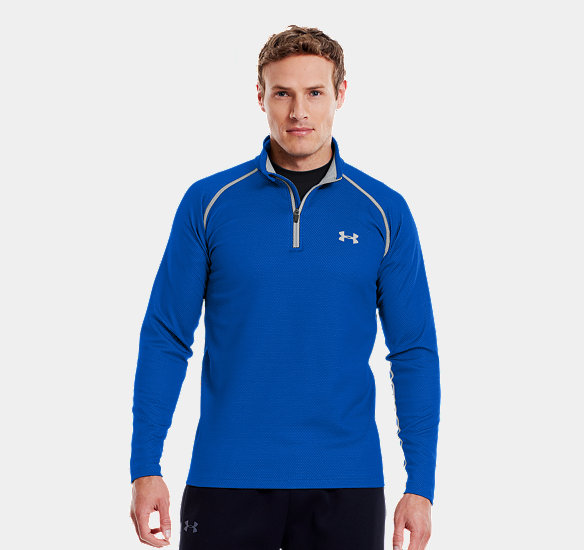 UNDER ARMOUR MEN COLDGEAR INFRARED THERMO  ZIP MOON SHADOW