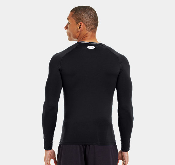 UNDER ARMOUR MEN HEATGEAR SONIC COMPRESSION LONG SLEEVE BLACK