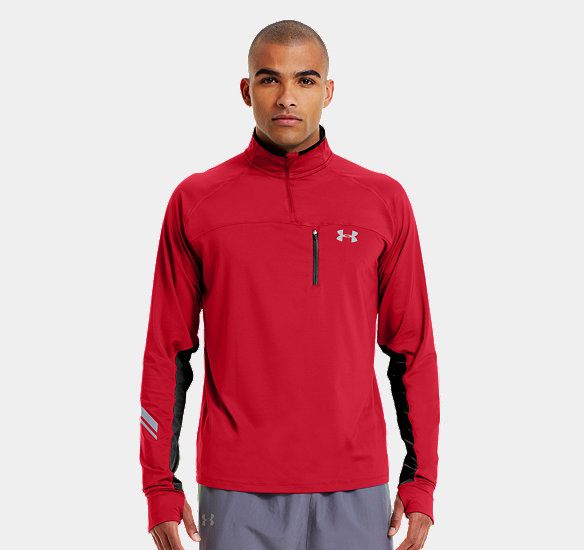 UNDER ARMOUR MEN IMMINENT RUN  ZIP RED