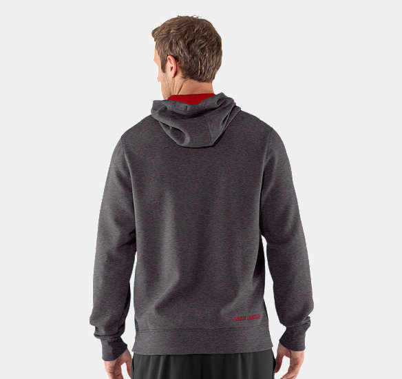 UNDER ARMOUR MEN CHARGED COTTON STORM TRANSIT HOODIE CARBON HEATHER
