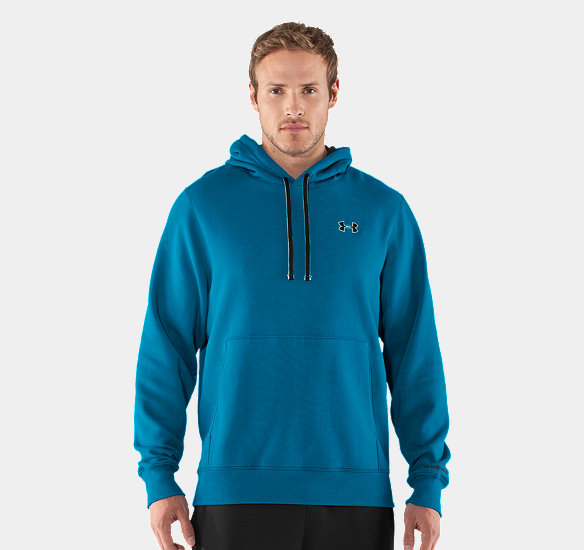 UNDER ARMOUR MEN CHARGED COTTON STORM TRANSIT HOODIE SNORKEL