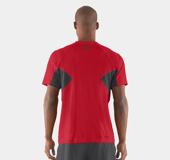 UNDER ARMOUR MEN CATALYST MESH T-SHIRT RED