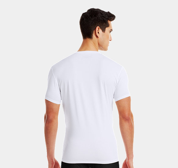 UNDER ARMOUR MEN THE ORIGINAL UNDER ARMOUR FITTED V-NECK UNDERSHIRT WHITE