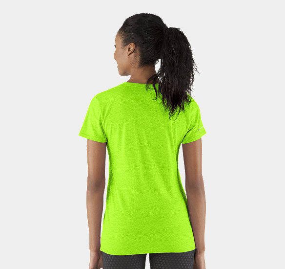 UNDER ARMOUR WOMEN CHARGED COTTON UNDENIABLE T-SHIRT HYPER GREEN