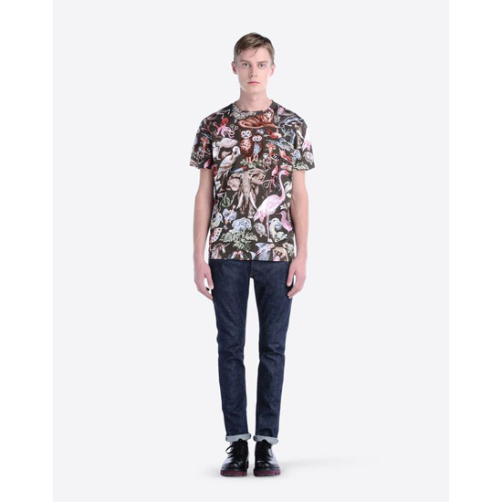 VALENTINO T-SHIRT WITH ANIMALI FANTASTICI PRINT IV0MG01Q2GS 825