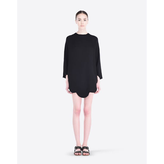 VALENTINO CADY PONCHO WITH SCALLOPED BOTTOM IB3AE0301MM 0NO