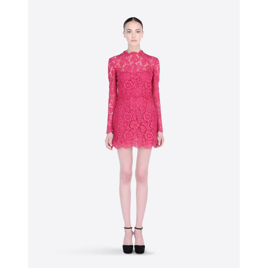 VALENTINO HEAVY LACE DRESS HB3VS1Y5-V7C264B 247