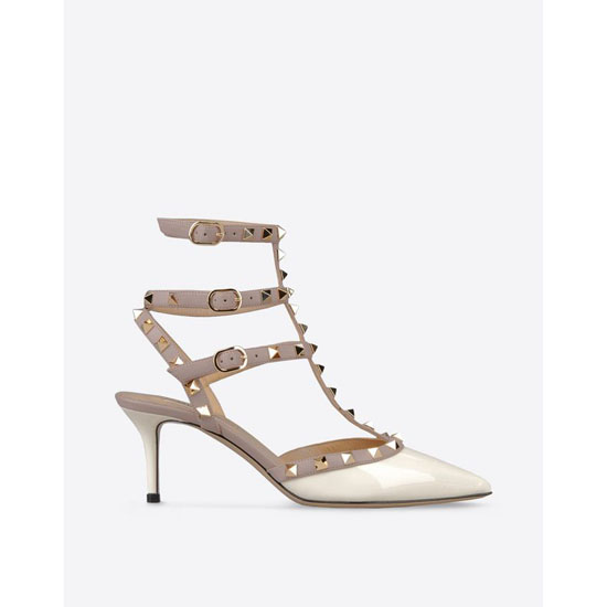 VALENTINO ROCKSTUD ANKLE STRAP IW2S0375VNW L62