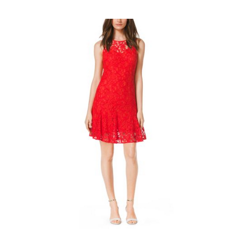 MICHAEL MICHAEL KORS Sleeveless Lace Dress GRENADINE