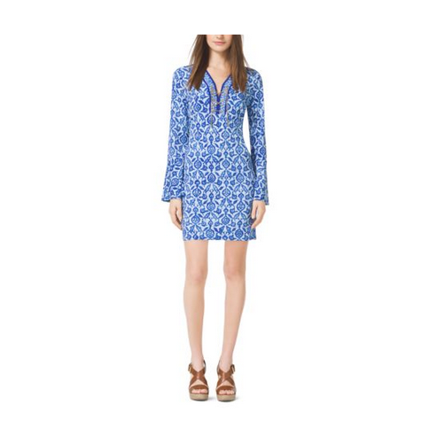 MICHAEL MICHAEL KORS Printed Jersey Dress ROYAL